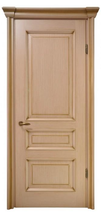 Міжкімнатні двері Меранті Плюс Олександрія глуха з порталом та патиною