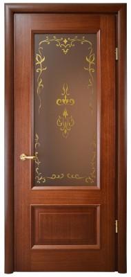 """Міжкімнатні двері Меранті Плюс Бріоні зі склом """"Фаберже"""""""