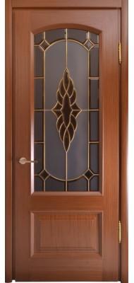 Міжкімнатні двері Меранті Плюс Верона зі склом - Вітраж Верона