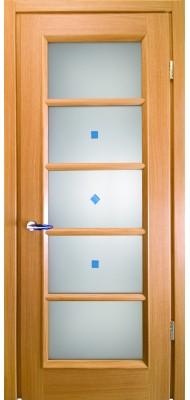 Міжкімнатні двері Меранті Плюс Геометрика зі склом
