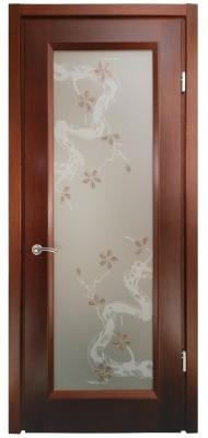 Міжкімнатні двері Меранті Плюс Єна яблуневий цвіт