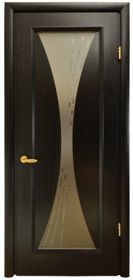 Міжкімнатні двері Меранті Плюс Паола зі склом
