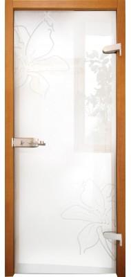Міжкімнатні двері Меранті Плюс Голландія двері зі склом
