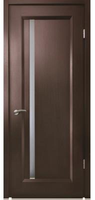 Міжкімнатні двері Меранті Плюс Екстра зі склом Венге