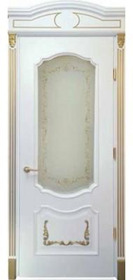 Міжкімнатні двері Меранті Плюс Рішельє Gold зі склом