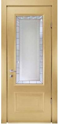 Міжкімнатні двері Меранті Плюс Буржуа Ivory зі склом