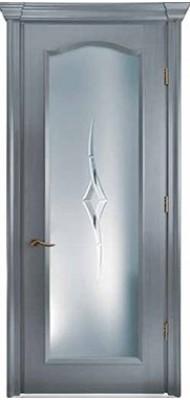 Міжкімнатні двері Меранті Плюс Тоскана зі склом Wood cool grey