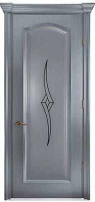 Міжкімнатні двері Меранті Плюс Тоскана глуха Wood cool grey