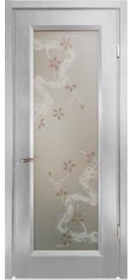 Міжкімнатні двері Меранті Плюс Єна яблуневий цвіт Wood grey mist
