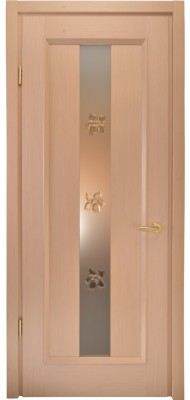 Міжкімнатні двері Меранті Плюс Весна зі склом Квіти Wood Sandal
