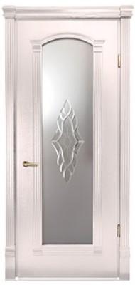 Міжкімнатні двері Меранті Плюс Гранада зі склом Wood milk