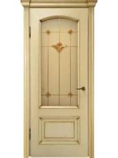 Міжкімнатні двері Меранті Плюс Верона - Декор-вітраж Верона