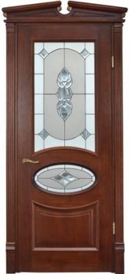 Міжкімнатні двері Меранті Плюс Ренесанс Вітраж