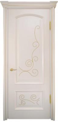 Міжкімнатні двері Меранті Плюс Флоренція Gold глухі двері