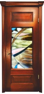Міжкімнатні двері Меранті Плюс Преміум Вітраж