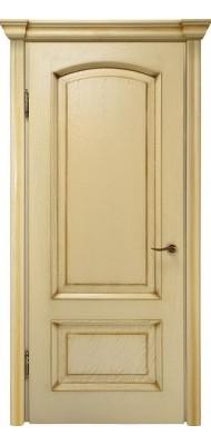 Міжкімнатні двері Меранті Плюс Верона глуха Wood ivory Патина Олива