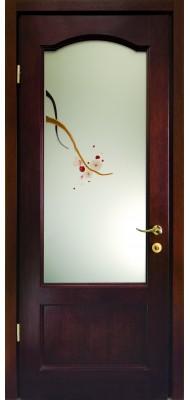 Міжкімнатні двері Меранті Плюс Класика - Гілка Сакури