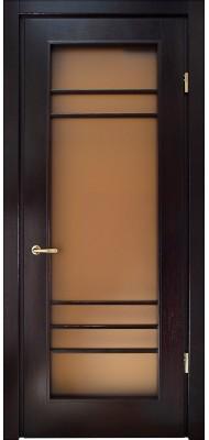 Міжкімнатні двері Меранті Плюс Нота-2 зі склом