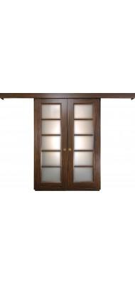 Міжкімнатні двері Меранті Плюс Розсувна система Геометрика