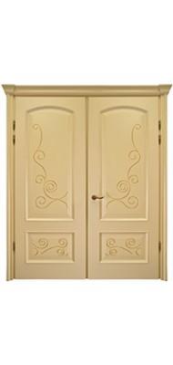 Міжкімнатні двері Меранті Плюс Флоренція двохстворкова глуха Ivory