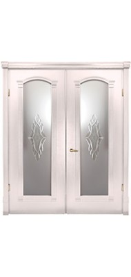 Міжкімнатні двері Меранті Плюс Гранада двохстворкова з фацетом
