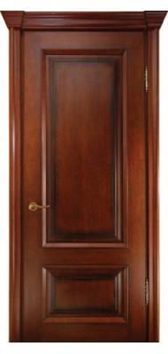 Міжкімнатні двері Меранті Плюс Сієна глухі двері Каштан
