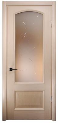 Міжкімнатні двері Меранті Плюс Відень зі склом (глуха нижня тахля без фрезерування)