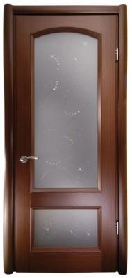 Міжкімнатні двері Меранті Плюс Відень двері зі склом