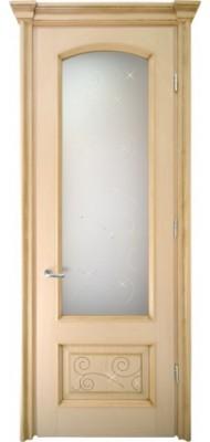 Міжкімнатні двері Меранті Плюс Відень зі склом (глуха нижня тахля з фрезеруванням)