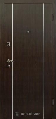 Вхідні двері Новий світ 9000-02 з вертикальним алюм.молдінгом