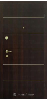 Вхідні двері Новий світ 9000-04 з горизонтальним молдингом золото