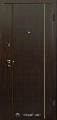 Вхідні двері Новий світ 9000-04 з вертикальним молдингом золото