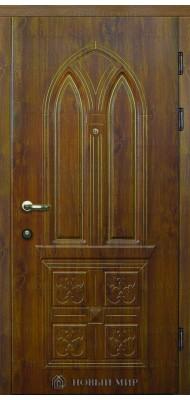 Вхідні двері Новий світ Мілан з накладними елементами та різьбою